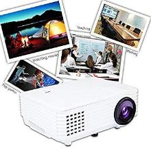 Punnkk P5 800Lumens Mini LED 3D Projector Home Cinema Theater Supports 1080P Video(White)
