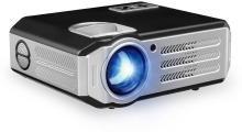 dkian RD817 Portable Projector LED LCD 4200 Lumens 1280*800 Support 1080P 3D Beamer RD817 1280*800 LCD HDMI VGA USB TV Video Projector excellent video clarity Portable Projector(Black)