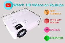 Jicson J33 Portable WiFi Projector (Miracast) with 120