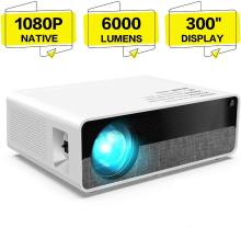 Punnkk Projector X10 Native 1080P HD Video Projector, 6000 Lumens up to 300
