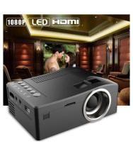 1080P HD LED Home MulitMedia Theater Cinema USB TV VGA SD HDMI Mini Projector BK