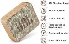 JBL Go 2 Bluetooth Speaker (Champagne)